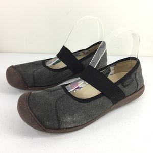 Keen 9.5 Gray black Canvas mary jane Comfort